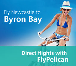 Fly to Byron Bay